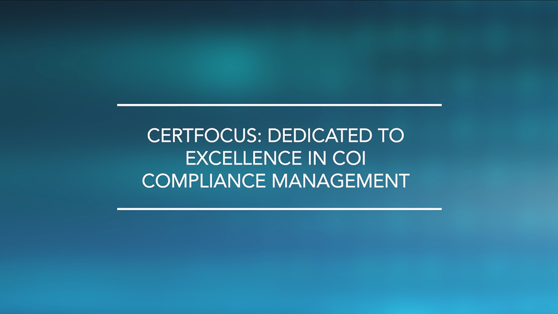 Certificate Of Insurance Tracking Software Certfocus